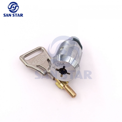25mm Zinc Alloy Cam Lock With Cross key Cabinet Lock