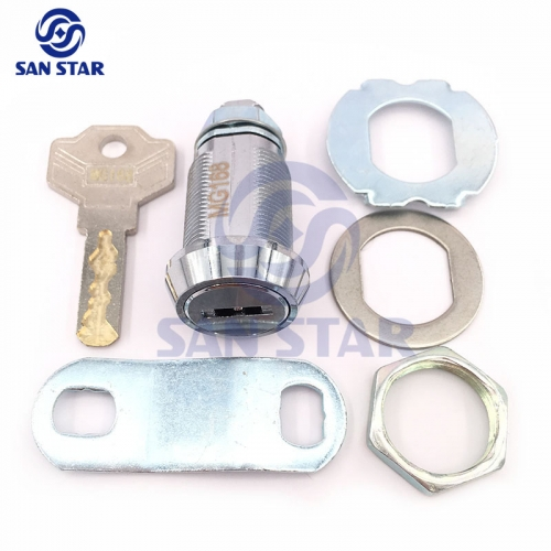 25mm Zinc Alloy Cabinet Lock with Concave Engraving Key