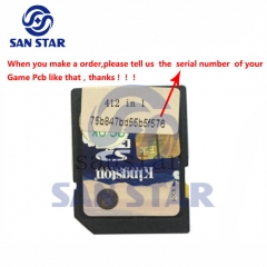 CF Card of Game Elf 412 in 1 SD card serial number should be provided when you order