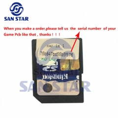 CF Card of Game Elf 1162 in 1 SD card  serial number should be provided when you order
