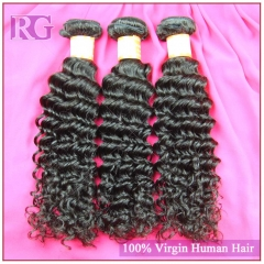 3 Bundles/Pack Brazilian Deep Wave Hair Bundles Natural color Remy Virgin Hair