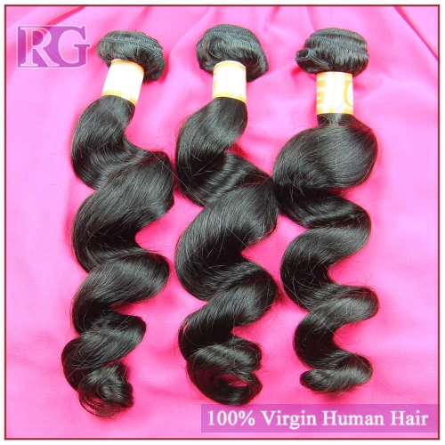 3 Bundles/Pack Unprocessed Hair Brazilian Loose Wave Hair Weaves Virgin Human Hair worldwide Shipping