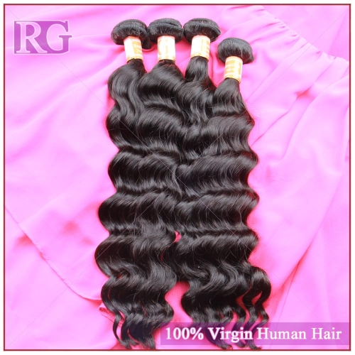 3 Bundles/Pack Brazilian Natural Wave Virgin Hair Weaves Virgin Hair Free Shipping