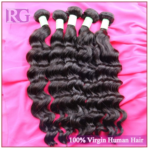 Virgin Indian Hair Natural Wave 4 Bundles/Pack Free Shipping