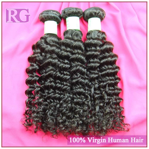 Indian Virgin Hair Deep Wave 3 Bundles/Pack  Virgin Indian Bundle Deals Free shipping