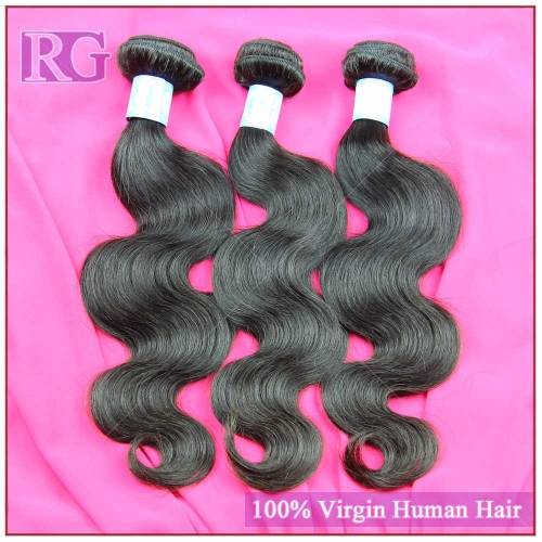 9A Malaysian Virgin Hair Body Wave 3 Bundles/Pack , Virgin Human Hair Bundle Deals RG HAIR Free shipping
