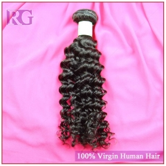 Virgin Indian deep wave Hair, 1 Bundle Human Hair Bundle Deal RG Hair