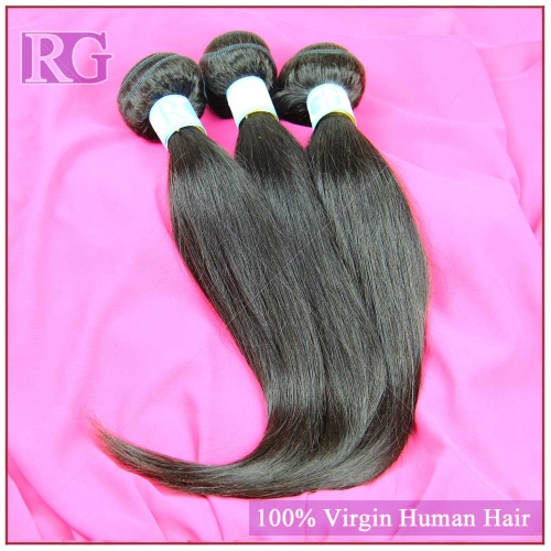 9A Malaysian Straight Virgin Hair 3 Bundles/Pack , Virgin Human Hair Bundle Deals RG HAIR Free shipping