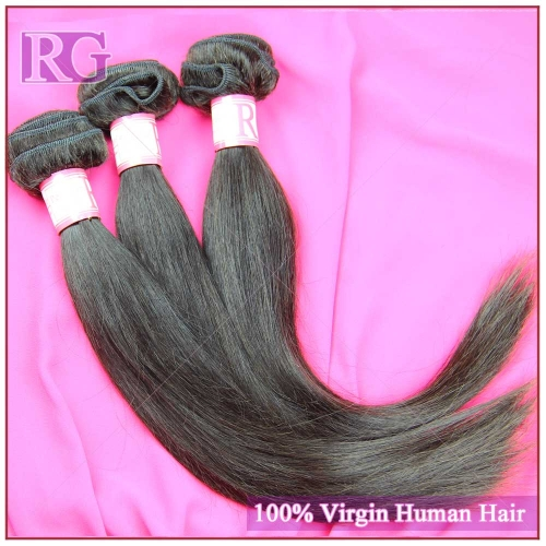 Straight Peruvian Virgin Hair 3 Bundles/Pack 100% Human Hair RG HAIR Free shipping