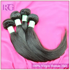 Indian Straight Hair 4 Bundles/Pack RG Virgin Hair weaves Free Shipping