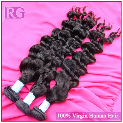 Malaysian Hair Natural wave, Grade 9A 1Bundle Human Hair Weaves RG Virgin Hair Brand