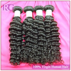Indian Virgin Hair Deep Wave 4 Bundles/Pack Free Shipping