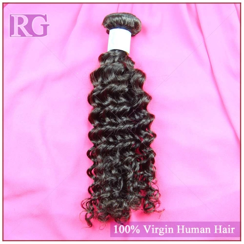 9A Malaysian Hair Deep wave, 1Bundle Human Hair Weaves RG Virgin Hair