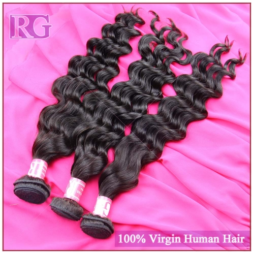 Peruvian Virgin Hair Natural wave 3 Bundles/Pack More Wavy Virgin Human Hair RG HAIR Worldwide shipping