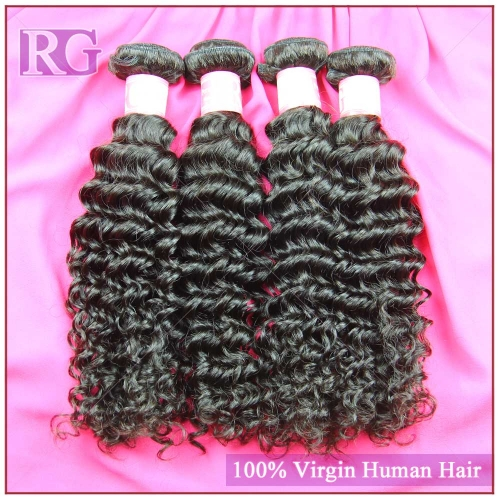 Peruvian Deep Wave Hair 4 Bundles/Pack RG Virgin Hair Weft Free Shipping