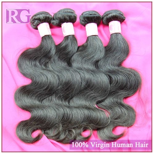 Peruvian Hair Body Wave 4 Bundles/Pack Virgin Human Hair weaves, RG Hair Free Shipping