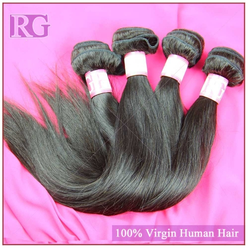 Peruvian Hair Straight 4 Bundles/Pack Virgin Hair weaves RG Human Hair Free Shipping
