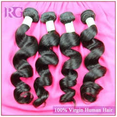 Indian Virgin Hair Loose Wave 4 Bundles/Pack Indian Human Hair weaves Free Shipping