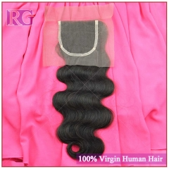 Lace Closure Hand made Virgin Hair Closure Body wave 1 Piece, Full Cuticle Shedding Free