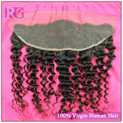 "Deep Wave Frontal 13""x4"" Virgin Hair Frontal, Hand Made Frontal 1 Piece Best Deal"