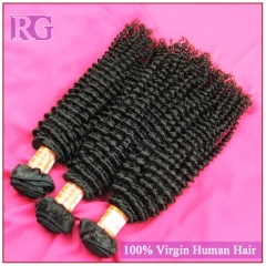 4 Bundles/Pack Kinky Curly Brazilian Human Hair Extensions Free Shipping