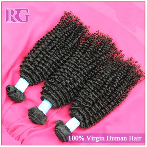 9A Malaysian kinky Curly Hair 4 Bundles/Pack Virgin Human Hair weaves, RG Hair Free Shipping