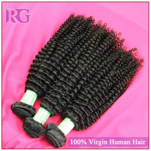 Indian Virgin Hair Kinky Curly 4 Bundles/Pack indian hair Free Shipping
