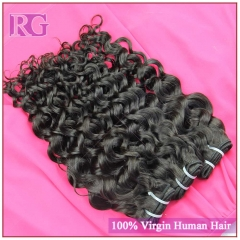 4 Bundles/Pack Italian Curl Brazilian Human Hair Extensions Virgin Hair