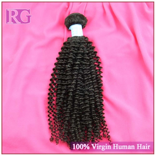 9A Malaysian Hair Kinky Curly, 1Bundle Human Hair Weaves RG Virgin Hair