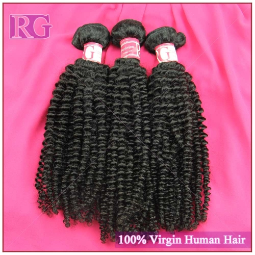 Virgin Peruvian Kinky Curly 3 Bundles/Pack 100% Human Hair RG HAIR Free shipping