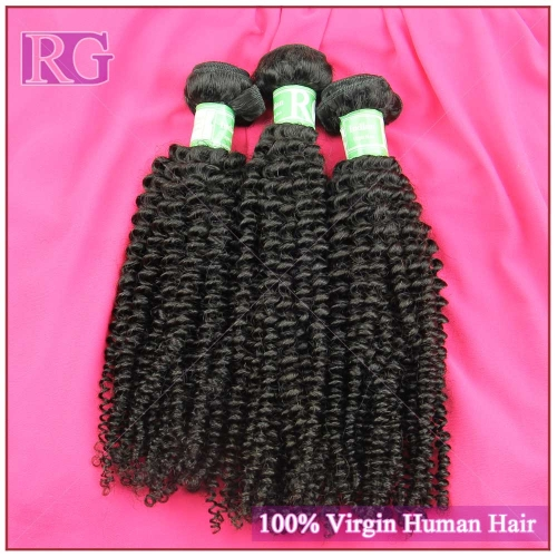 Indian Virgin Hair Kinky Curly 3 Bundles/Pack Bundle Deals Free shipping
