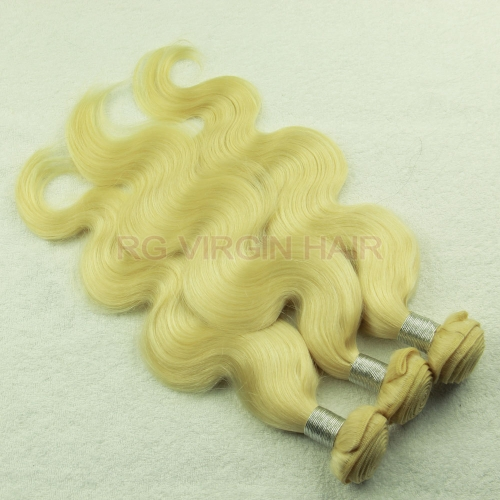 Best Blonde Hair 613# 3Bundles/Pack Brazilian Hair Weaves Blonde Human Hair Weft Regina hair Products Free shipping
