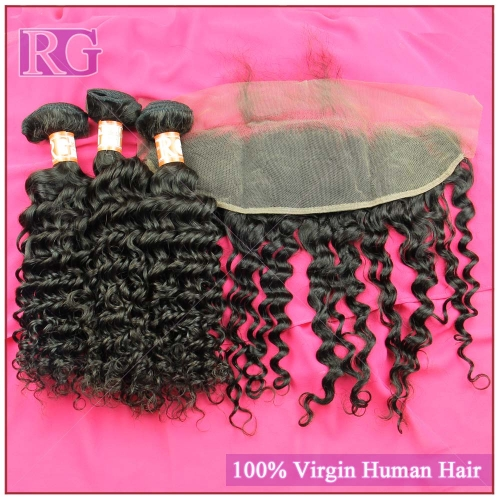 3Bundles with Frontal Deep Wave Brazilian Virgin Hair Best Deal