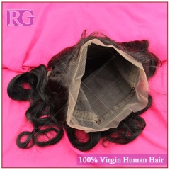 "Brazilian Body Wave 360 Frontal with Elastic Band 10""-20""Virgin Hair Frontal Closure 1piece /Pack"