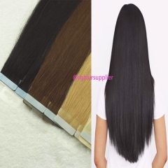 Tape In Hair Extension Natural Color 100gram/Pack Lustre Long Lasting