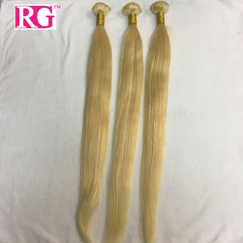 613 Blonde Straight Hair 3 Bundles/Pack Brazilian Hair Weaves Free shipping