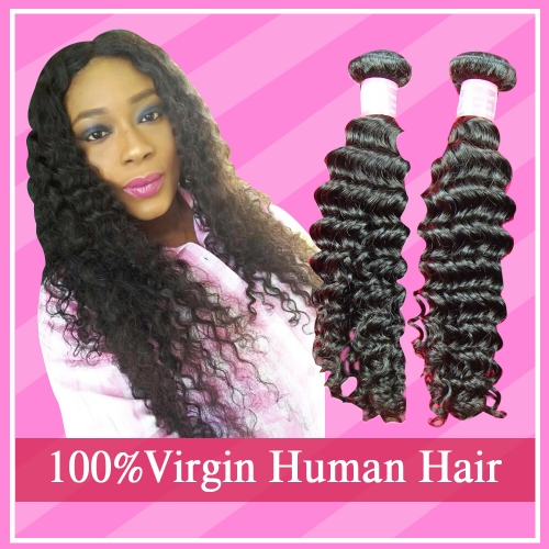 Virgin Hair Peruvian Deep wave 3 Bundles Deal Pure Human Hair Weaves Bundles Deal Free shipping