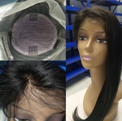 Popular 360 Wig 100% Virgin Human Hair Lace Wig Silky Straight Hair 10-22inch