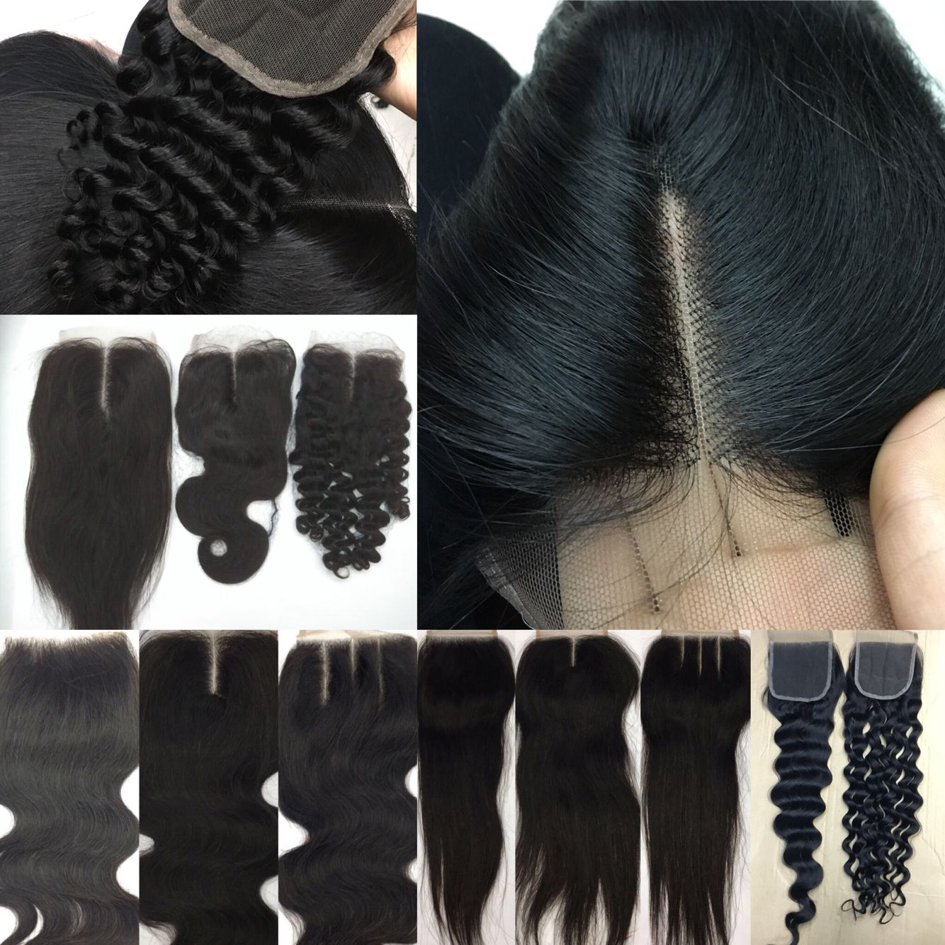 Wholesale Lace Closures  Virgin Hair Closure Top Closure Human Hair