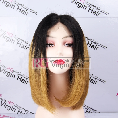Ombre Color 1b/30 Bob Wig Human Wig Lace Closure Wig