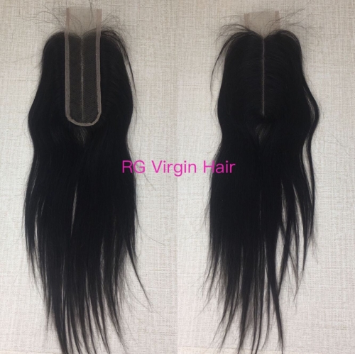 Popular Kim K Deep Part Closure Straight Lace Closure Virgin Hair Closure