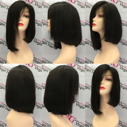 12inch fashion bob wig Lace Closure Wig Virgin Human Hair Wig