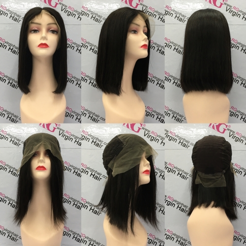 Bob Wig Virgin Hair Front Lace Wig 8-14inch