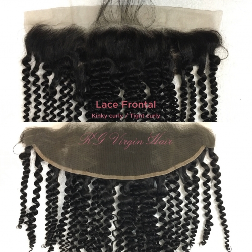 Kinky Curly Lace Frontal 13in x 4in Virgin Hair Frontal in wholesale price