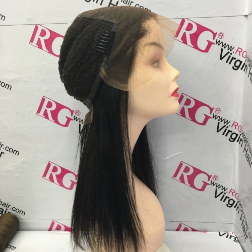 13*6 Front Lace Wig Straight Virgin Human Hair Wig in Wholesale Price 12-24inch