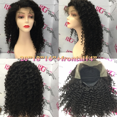 20inch Deep Wave Frontal Wig Virgin Hair Frontal Lace Wig