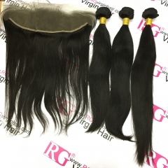 3Bundles with Lace frontal Brazilian Silky straight Hair Best Deals