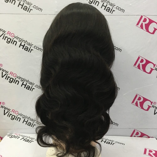 Full Lace Wig Body Wave Virgin Hair Human Hair Wig 12-24inch RG Wig