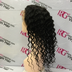 Full Lace Wig Deep Wave Virgin Hair Human Hair Wig 12-24 inch Sale