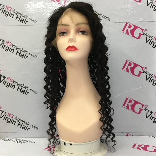 13*6 Lace Front Wig Deep Wave 130% Density Virgin Hair Lace Wig 12-24inch